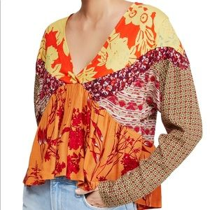 Free People Aloha State of Mind Tunic in Tangerine